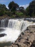 Acqua di fiume precipitante a cascata Fotografie Stock Libere da Diritti