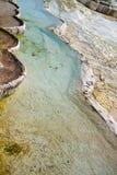Acqua di fonte calda di Pamukkale Fotografie Stock Libere da Diritti