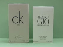 Acqua di Gio and ck One Stock Images