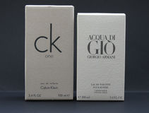 Acqua di Gio and ck One Stock Photography