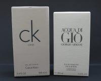 Acqua di Gio und CK einer Stockfoto