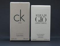 Acqua di Gio und CK einer Stockfotografie