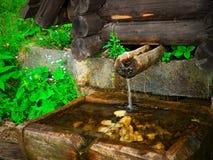 Acqua di montagna cristallina Fotografie Stock Libere da Diritti
