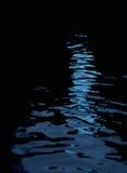 Acqua di riflessione leggera di notte Fotografie Stock Libere da Diritti
