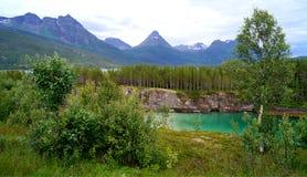 Acqua di verde della Norvegia Immagine Stock Libera da Diritti