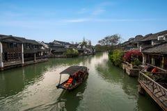 Acqua di Zhejiang Jiaxing Wuzhen Xigu Fotografia Stock Libera da Diritti