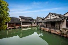 Acqua di Zhejiang Jiaxing Wuzhen Xigu Immagini Stock Libere da Diritti
