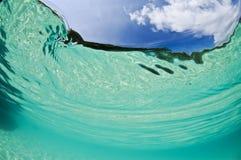 Acqua e cielo tropicali Fotografia Stock Libera da Diritti