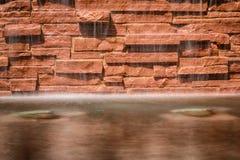 Acqua e mattoni caldi Fotografia Stock
