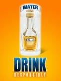 Acqua ed alcool Fotografia Stock