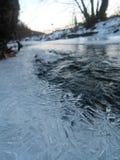 Acqua fredda congelata in Slovacchia Fotografia Stock