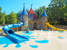 Acqua fun castle Gardaland amusement park Royalty Free Stock Photography