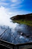 Acqua geotermica calda Fotografia Stock Libera da Diritti