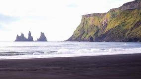 Acqua ghiacciata dell'Islanda stock footage