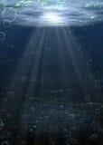 Acqua inferiore del fiume Immagini Stock