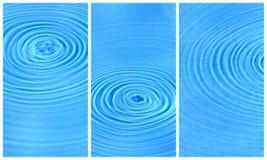 Acqua libera blu Fotografie Stock