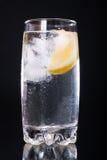 Acqua minerale con il limone Fotografie Stock Libere da Diritti
