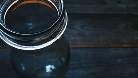 Acqua minerale di vetro bottle Fotografie Stock