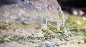 Acqua nel moto Fotografia Stock