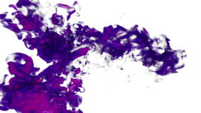 Acqua o fumo viola del underwate dell'inchiostro del fondo astratto con l'alfa maschera per gli effetti di moto e VFX compositing illustrazione di stock