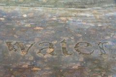 Acqua in orizzontale di pietra immagine stock libera da diritti