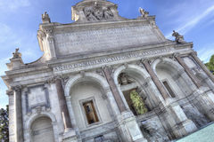 Acqua Paola喷泉在罗马Fontanone 免版税库存图片