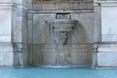 Acqua Paola alias IL Fontanone Fontanas Dell ', der große Brunnen ist ein monumentaler Brunnen, der herein auf dem Janiculum-Hüge lizenzfreie stockfotografie