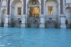 Acqua Paola alias IL Fontanone Fontanas Dell ', der große Brunnen ist ein monumentaler Brunnen, der herein auf dem Janiculum-Hüge lizenzfreies stockfoto