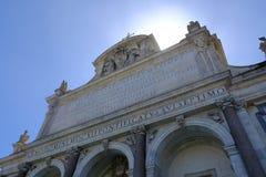` Acqua Paola Fontana-engen Tals in Rom, Italien Lizenzfreie Stockfotos