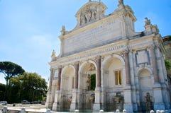 Acqua Paola Fountain, Gianicolo, Roma, Itália Imagens de Stock