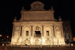 Acqua Paola fountain at night Stock Photo