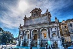 Acqua Paola Fountain In Rome Stockbilder