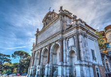 Acqua Paola Fountain In Rome Lizenzfreies Stockbild