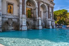 Acqua Paola Fountain In Rome Stockbild