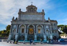 Acqua Paola fountain in Rome. Italy Stock Photo
