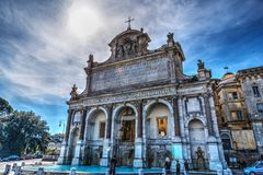 Acqua Paola fountain in Rome. Italy Stock Images