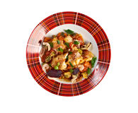 Acqua Pazza  with   perch Stock Photo