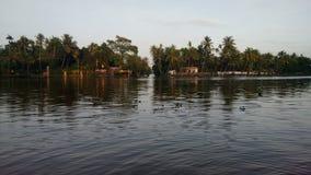 Acqua posteriore di Alapuzha fotografie stock libere da diritti