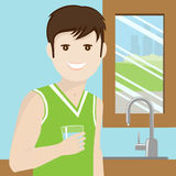 Acqua potabile dell'uomo Immagini Stock