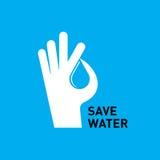 Acqua proteggente della mano creativa Fotografie Stock Libere da Diritti