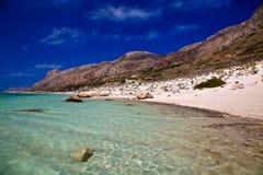 Acqua pura di cristallo nella laguna di Balos Fotografia Stock Libera da Diritti