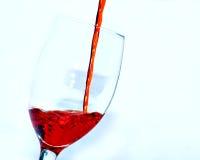 Acqua rossa in vetro Fotografia Stock