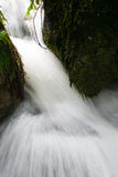 Acqua scorrente veloce attraverso la gola Fotografie Stock Libere da Diritti