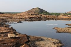 Acqua sulla roccia Immagini Stock