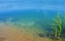 Acqua trasparente del lago Immagini Stock