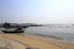 Acquacoltura alla spiaggia Fotografia Stock