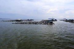 Acquacoltura sul mare Immagini Stock