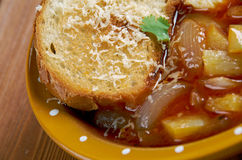 Acquacotta. Soup in Italian cuisine that was originally a peasant food.originated in the coastal are southern Tuscany Stock Photos
