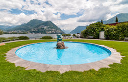 The Acquaiola fountain along Lake of Lugano Royalty Free Stock Images