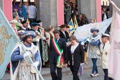 Acquapendente, ITALIA - 18 maggio 2014, dei di Festa Fotografie Stock Libere da Diritti